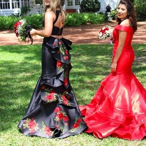 deab9f5c0ca58 Sherri Hill Dresses - Sherri Hill Black and Rose Dress #51027